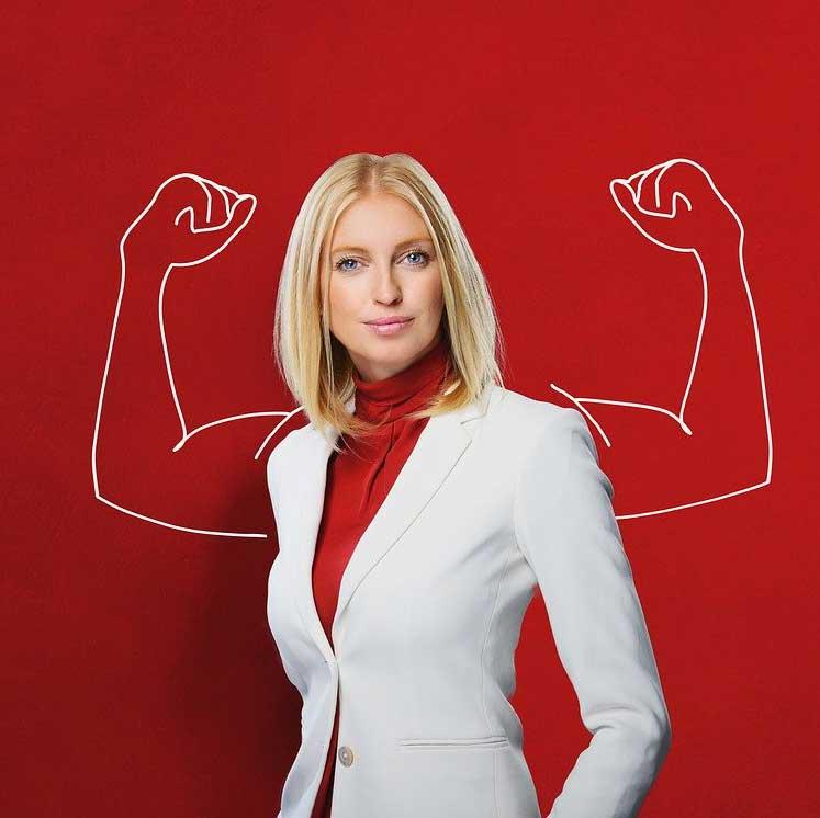 Souveräne Führungsfrau