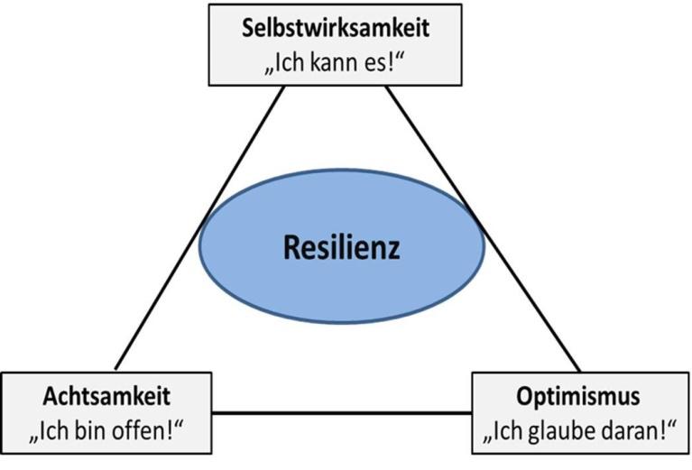 Die drei Stützpfeiler der Resilienz in Wechselwirkung